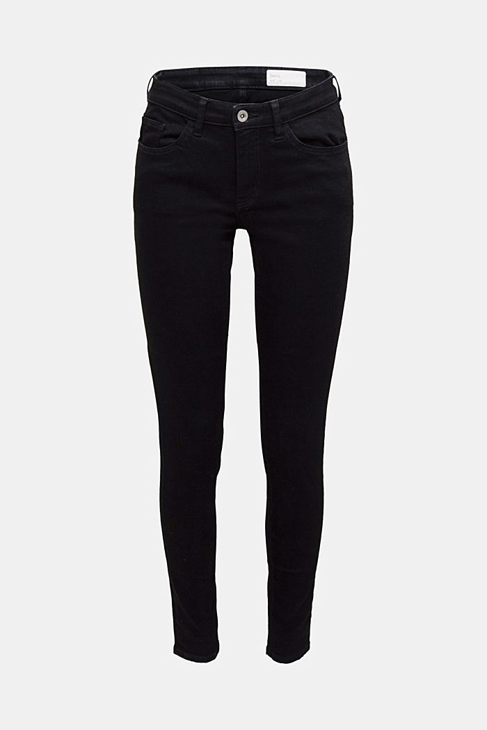 Skinny super stretch jeans, BLACK RINSE, detail image number 6