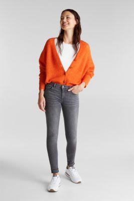 Skinny super stretch jeans, GREY MEDIUM WASH, detail