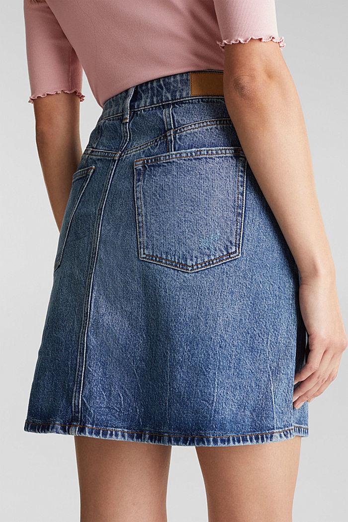 Jeans-Rock mit Organic Cotton, BLUE MEDIUM WASHED, detail image number 5