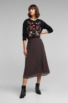 Recycled: Printed chiffon skirt, BLACK 3, detail