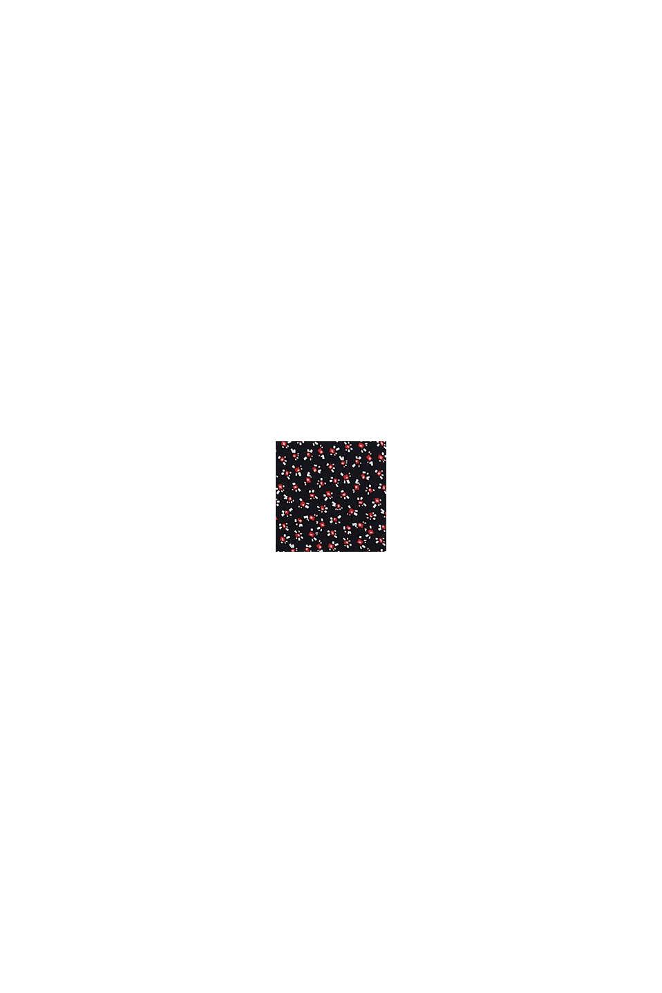 W wersji z recyklingu: Szyfonowa spódnica z nadrukiem, BLACK, swatch