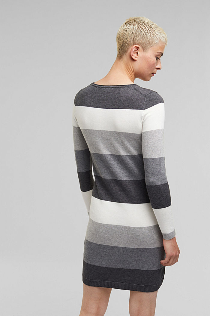 Essential knit dress containing organic cotton, DARK GREY, detail image number 2
