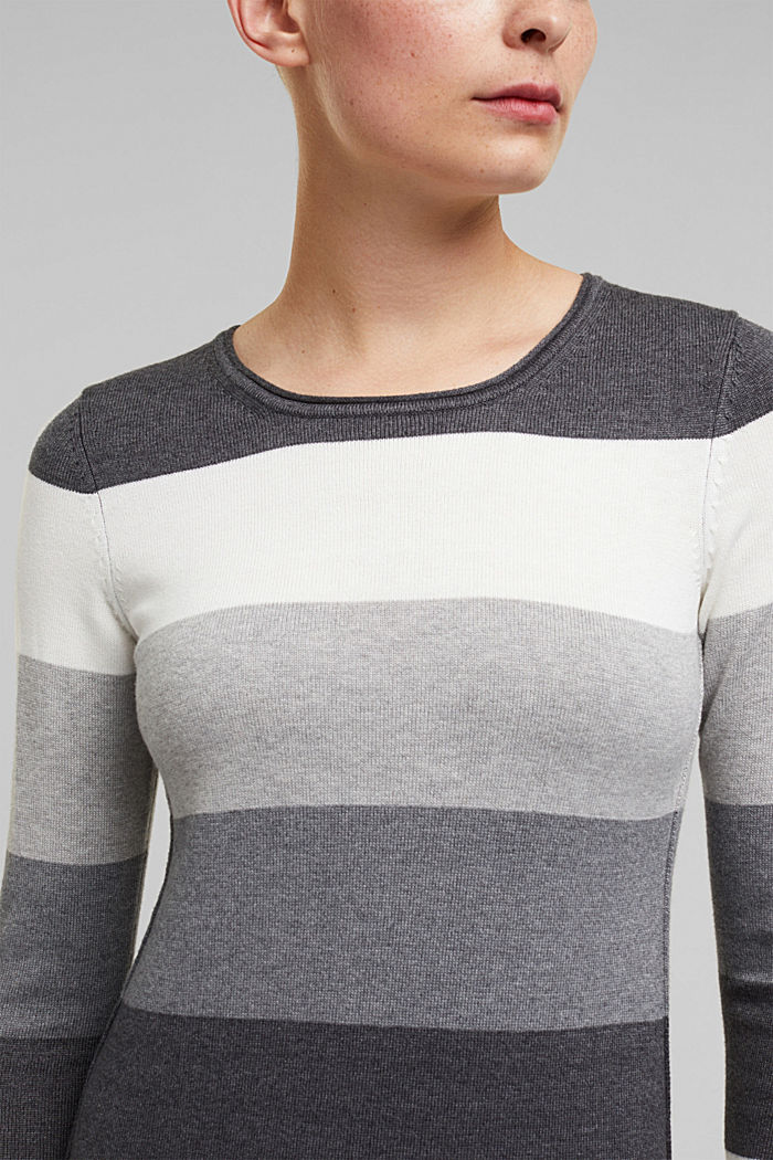 Essential knit dress containing organic cotton, DARK GREY, detail image number 3