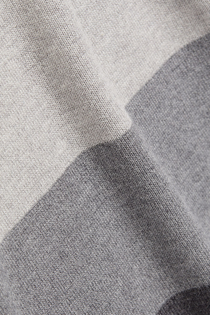 Essential knit dress containing organic cotton, DARK GREY, detail image number 4