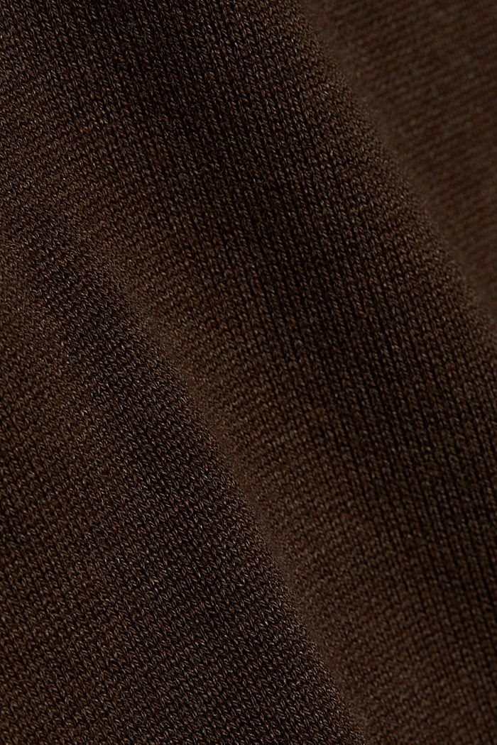 Essential knit dress containing organic cotton, DARK BROWN, detail image number 4