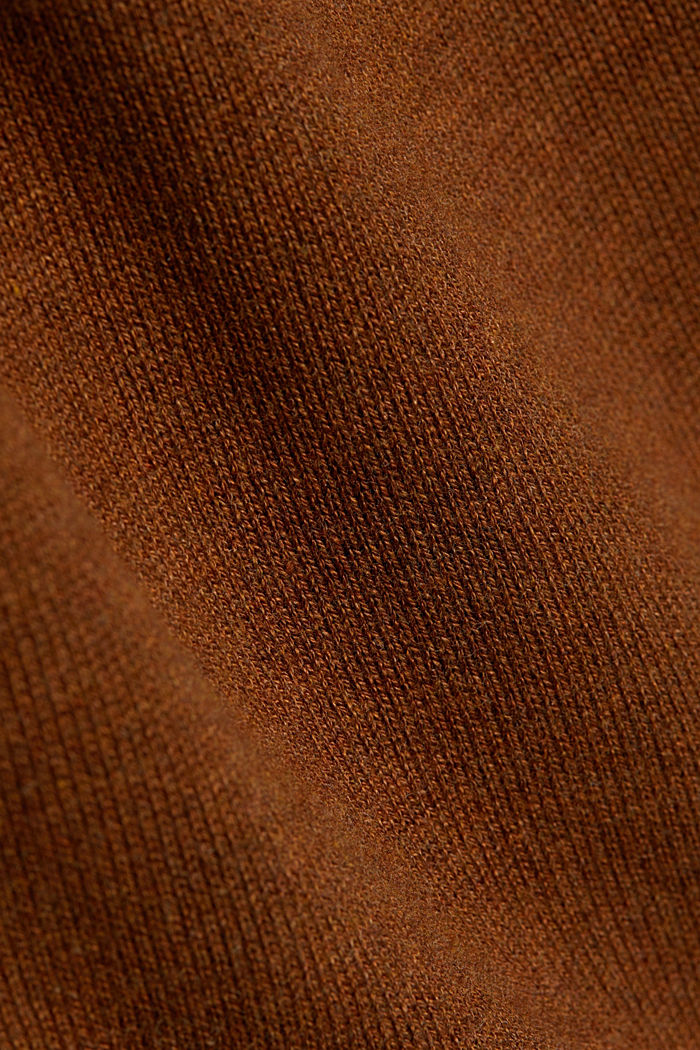 Essential knit dress containing organic cotton, TOFFEE, detail image number 4