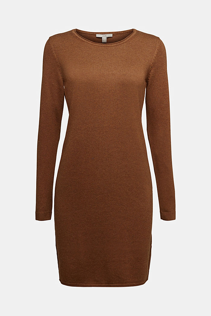 Essential knit dress containing organic cotton, TOFFEE, detail image number 7
