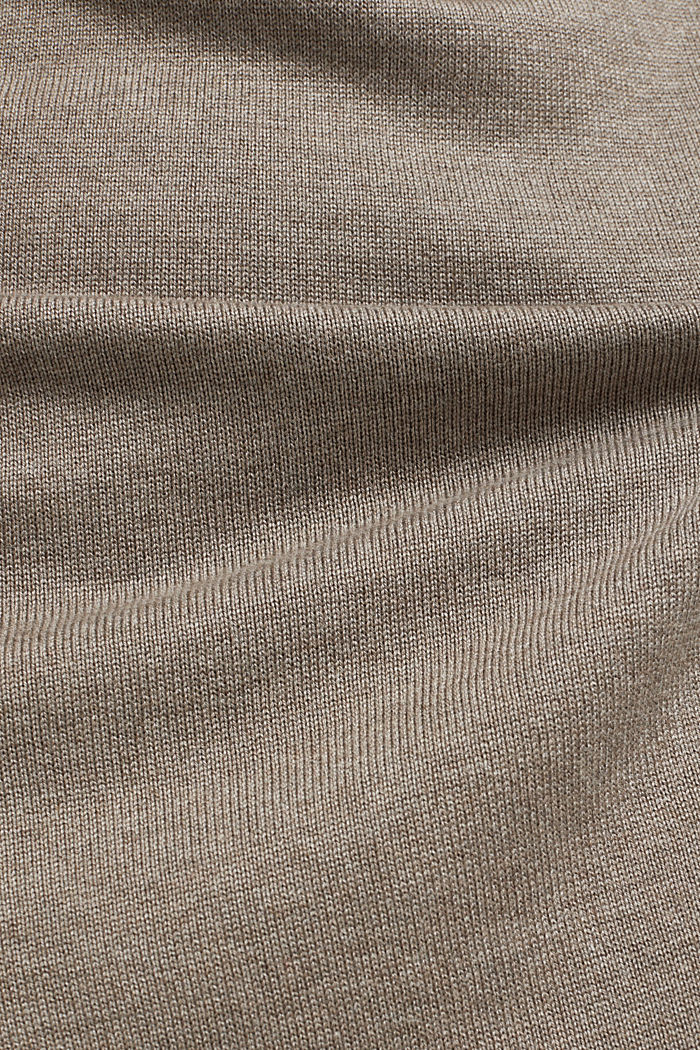 Essential knit dress containing organic cotton, TAUPE, detail image number 4
