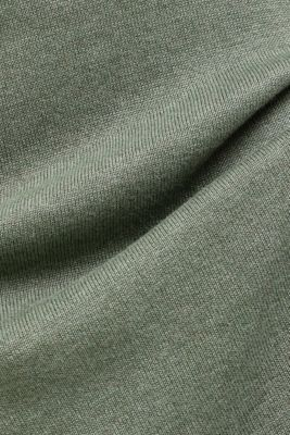 Essential knit dress containing organic cotton, KHAKI GREEN 5, detail