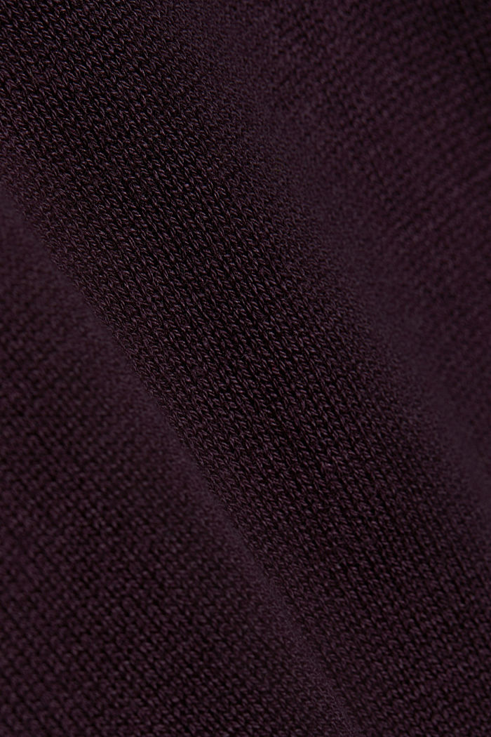 Essential knit dress containing organic cotton, AUBERGINE, detail image number 4