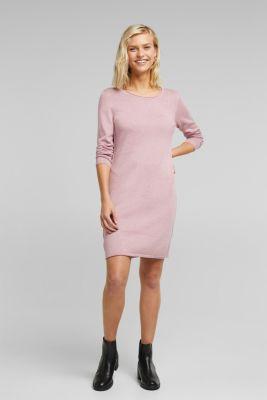 Essential knit dress containing organic cotton, MAUVE 5, detail