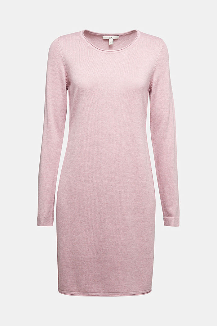 Essential knit dress containing organic cotton, MAUVE, detail image number 5