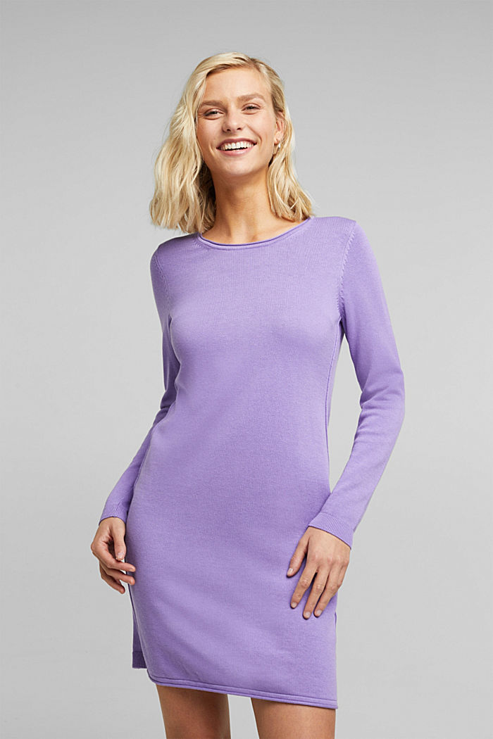 Essential knit dress containing organic cotton, LILAC, detail image number 0