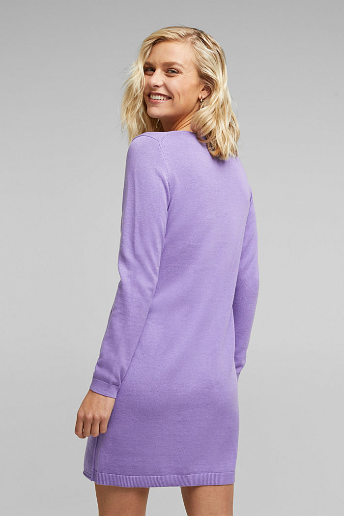 Essential knit dress containing organic cotton, LILAC, detail image number 2
