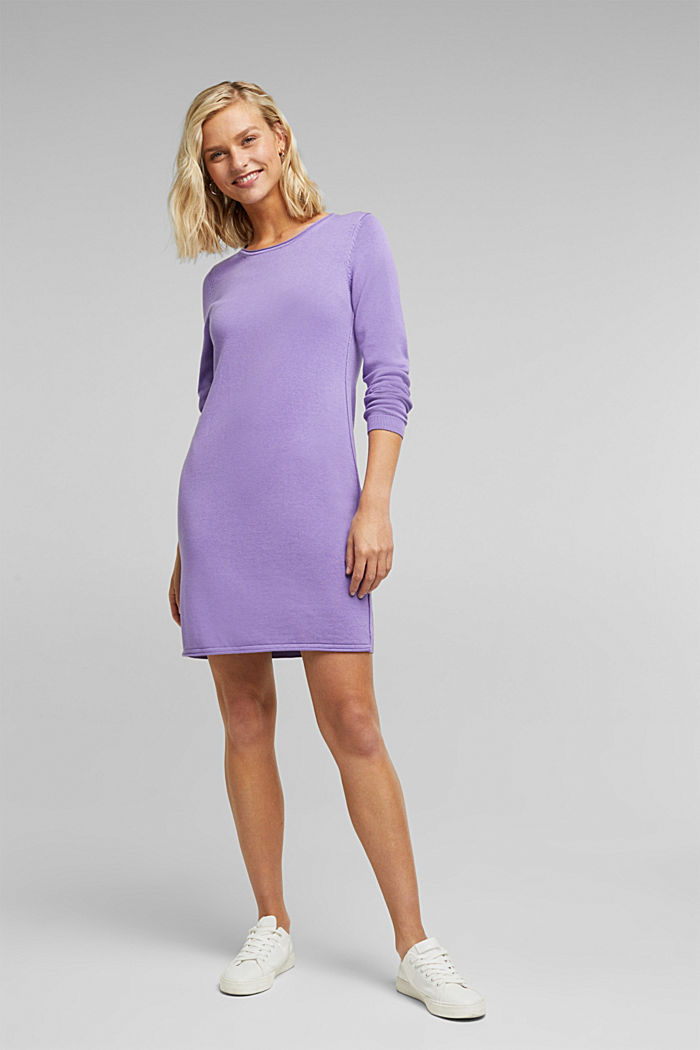 Essential knit dress containing organic cotton, LILAC, detail image number 1