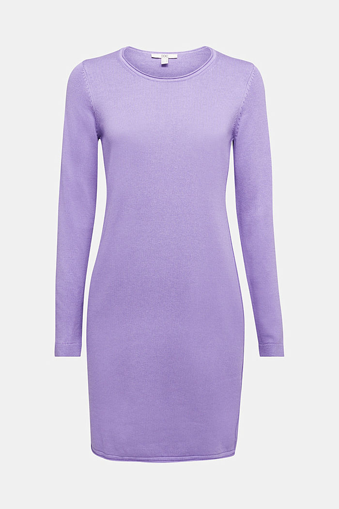 Essential knit dress containing organic cotton, LILAC, detail image number 5