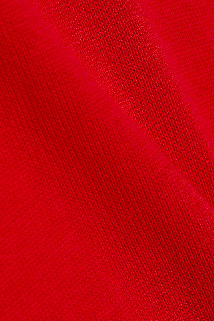 Essential knit dress containing organic cotton, RED, detail image number 4