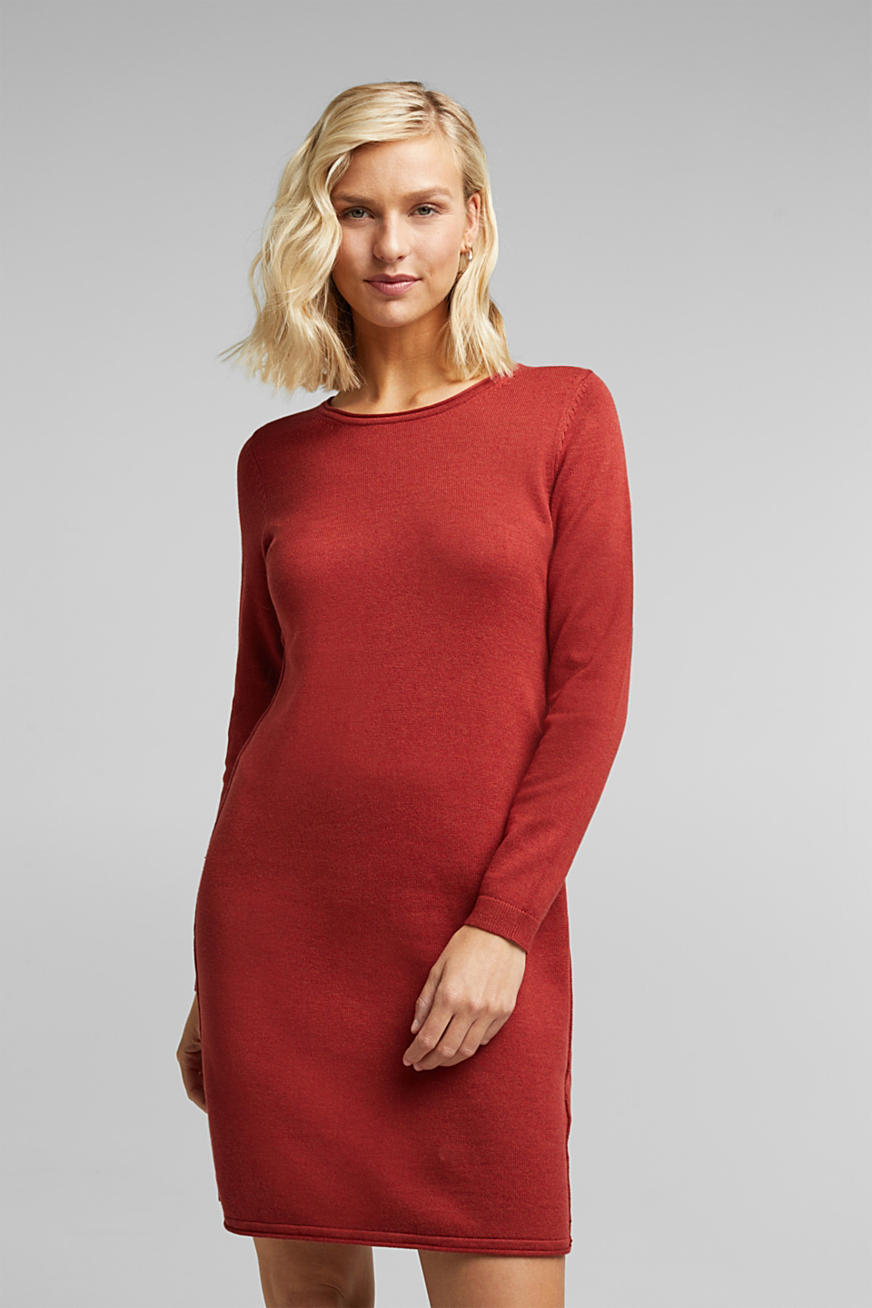 Essential Strickkleid mit Organic Cotton