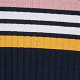 Rib knit dress in a striped look, NAVY, swatch