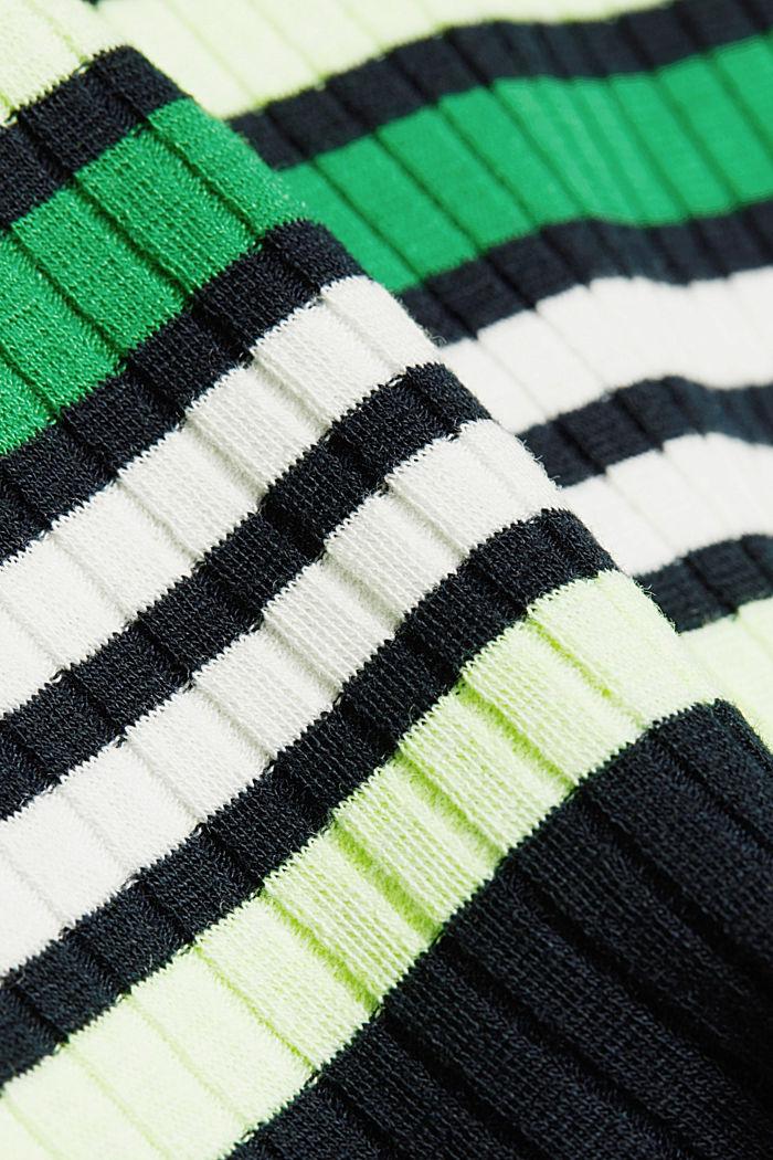 Rippstrick-Kleid im Streifen-Look, NAVY/GREEN, detail image number 4