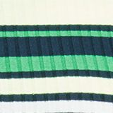 Rib knit dress in a striped look, NAVY/GREEN, swatch