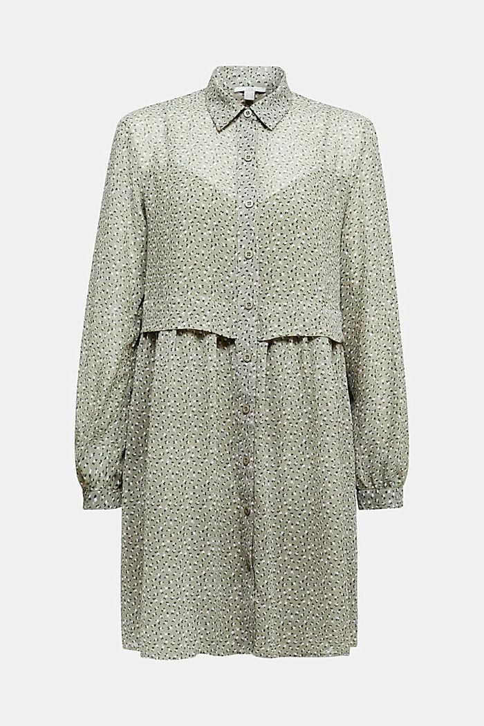 Recycelt: Mini-Kleid aus Chiffon