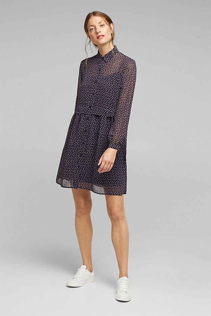 Recycled: mini dress made of chiffon