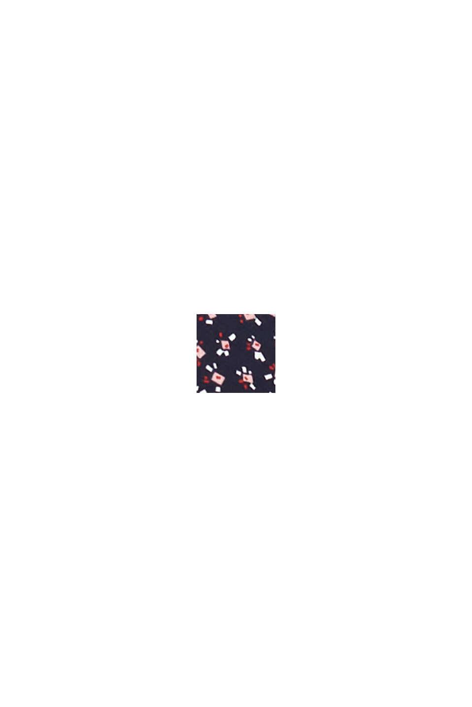 Återvunnet material: Miniklänning i chiffong, NAVY, swatch