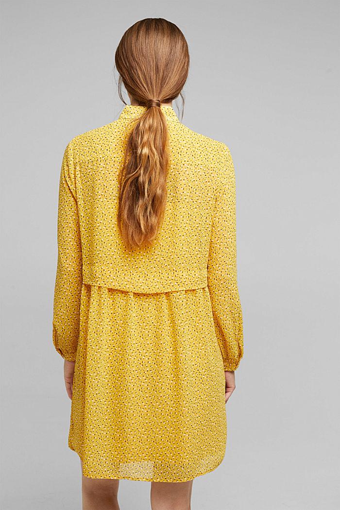 En matière recyclée: la mini-robe en chiffon, BRASS YELLOW, detail image number 2