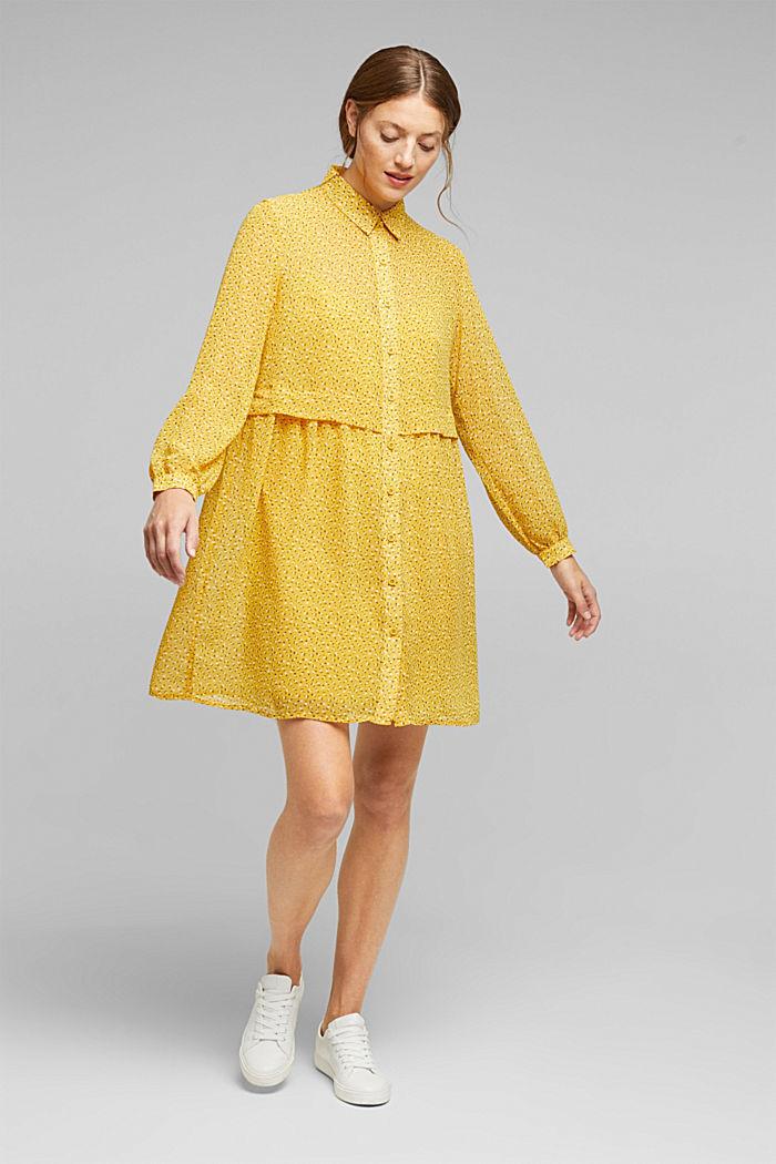 En matière recyclée: la mini-robe en chiffon, BRASS YELLOW, detail image number 1