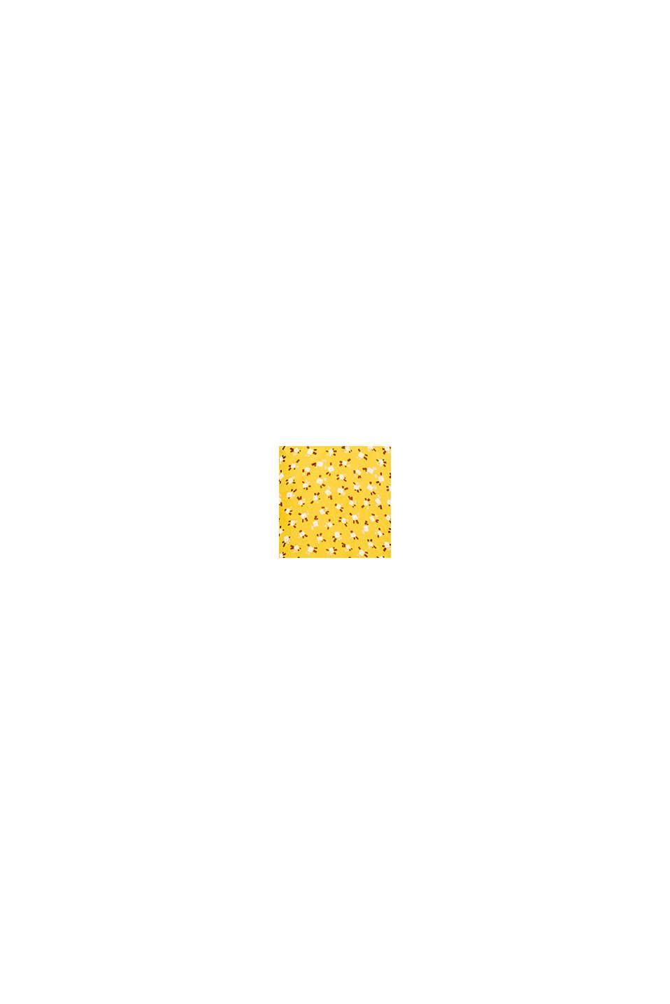 In materiale riciclato: abito mini in chiffon, BRASS YELLOW, swatch