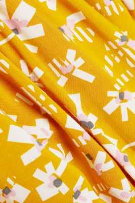 Dress with a floral print, made of LENZING™ ECOVERO™, BRASS YELLOW 4, detail