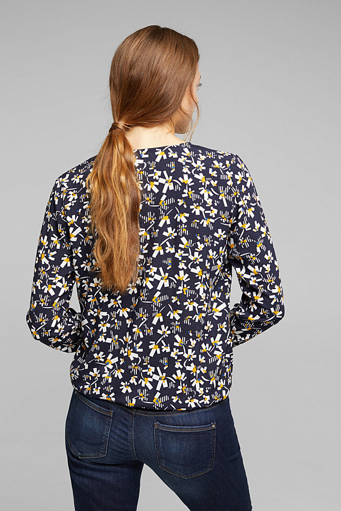 Blouse made of LENZING™ ECOVERO™ viscose, NAVY, detail image number 3