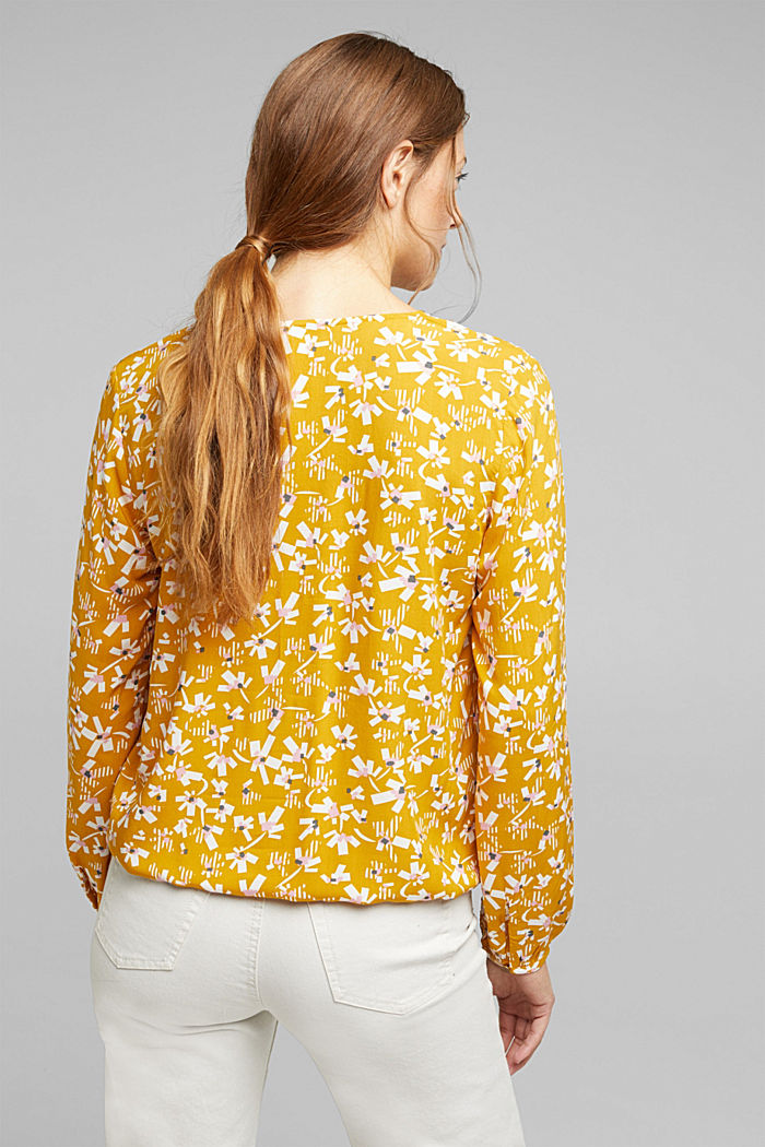 Blouse made of LENZING™ ECOVERO™ viscose, BRASS YELLOW, detail image number 3