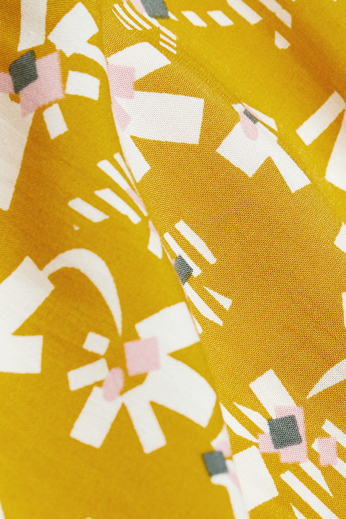Blouse made of LENZING™ ECOVERO™ viscose, BRASS YELLOW, detail image number 4