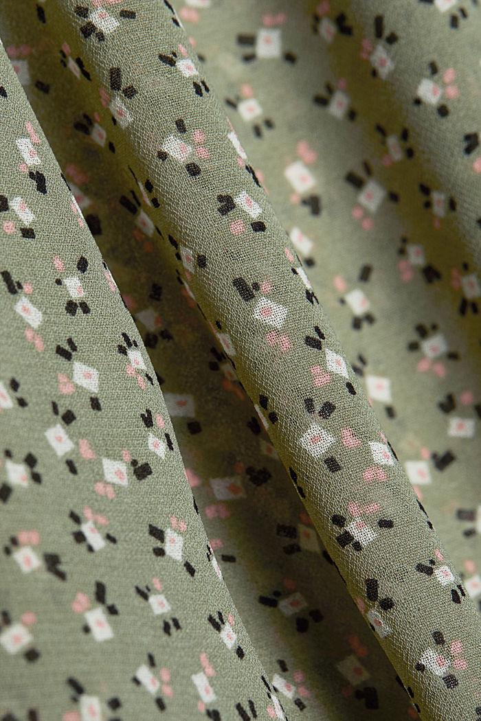 Recycled: sheer chiffon blouse, LIGHT KHAKI, detail image number 4
