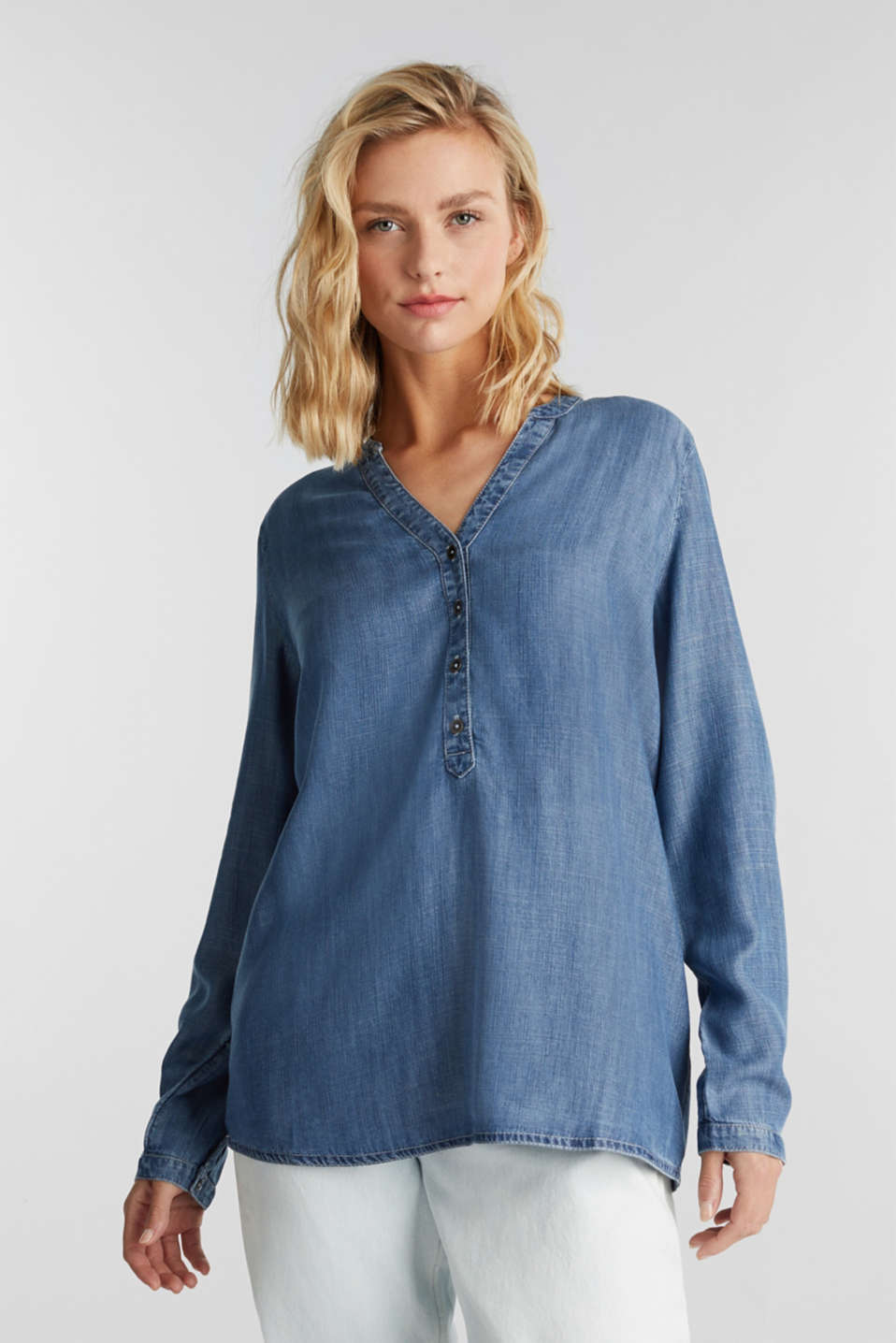 edc - Made of TENCEL™: denim blouse