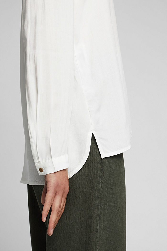 Henley blouse made of LENZING™ ECOVERO™, OFF WHITE, detail image number 5