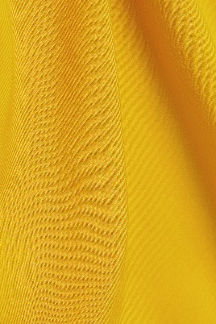Henley blouse made of LENZING™ ECOVERO™, BRASS YELLOW, detail image number 4
