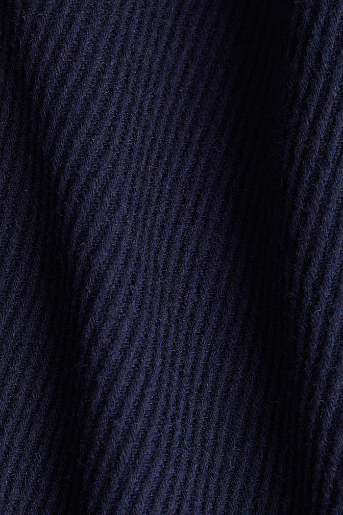 Coat with a detachable hood, NAVY, detail image number 4