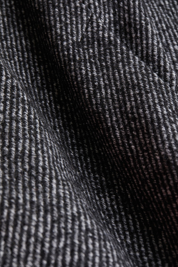 Recycled: wool coat with a jersey hood, BLACK, detail image number 4
