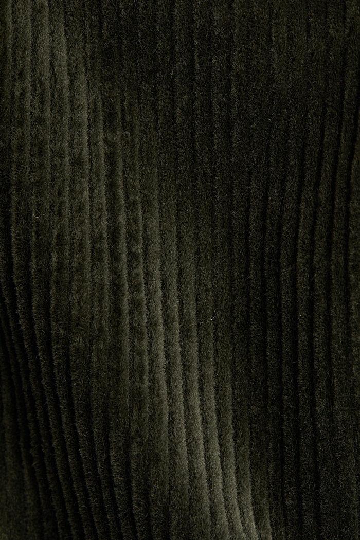 Corduroy jack met voering van teddy, KHAKI GREEN, detail image number 4