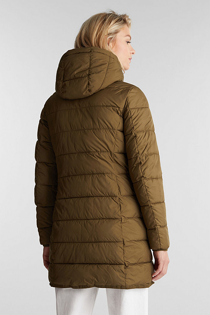 Quilted coat with 3M™ Thinsulate™ filling, KHAKI GREEN, detail image number 3