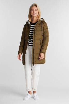 Quilted coat with 3M™ Thinsulate™ filling, KHAKI GREEN, detail