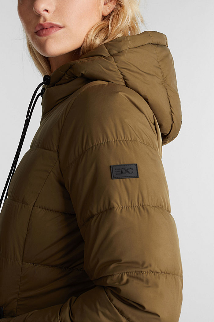 Quilted coat with 3M™ Thinsulate™ filling, KHAKI GREEN, detail image number 2