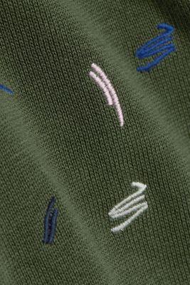 Embroidered cardigan made of 100% organic cotton, LIGHT KHAKI 4, detail