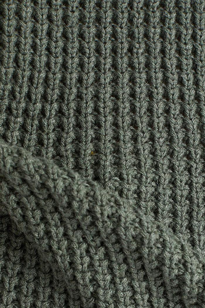 Jumper made of 100% organic cotton, LIGHT KHAKI, detail image number 4