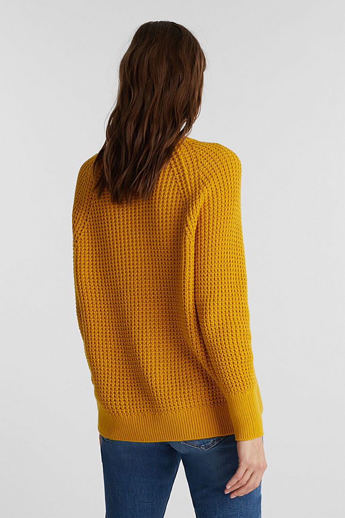 Jumper made of 100% organic cotton, BRASS YELLOW, detail image number 3