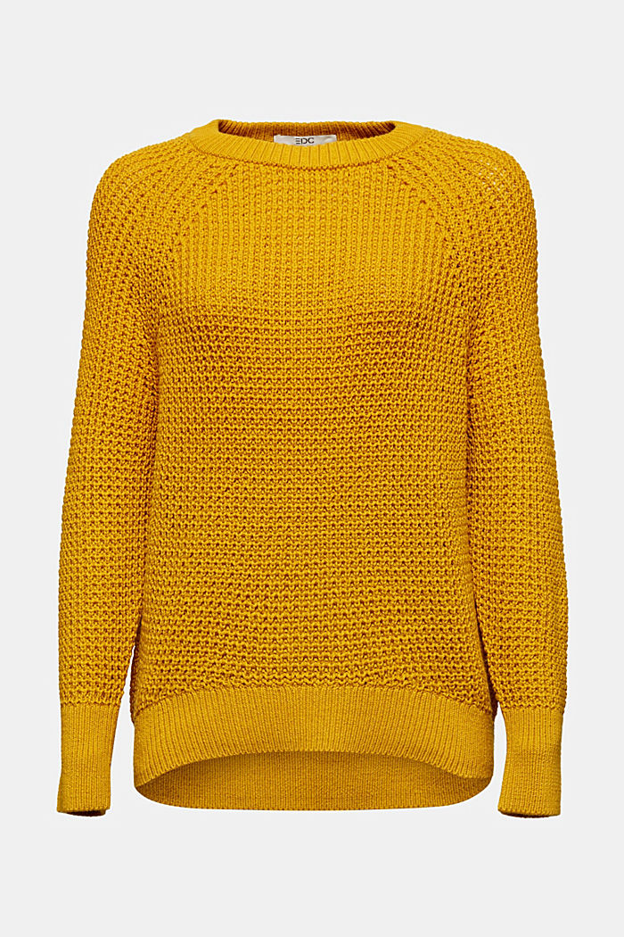 Jumper made of 100% organic cotton, BRASS YELLOW, detail image number 6