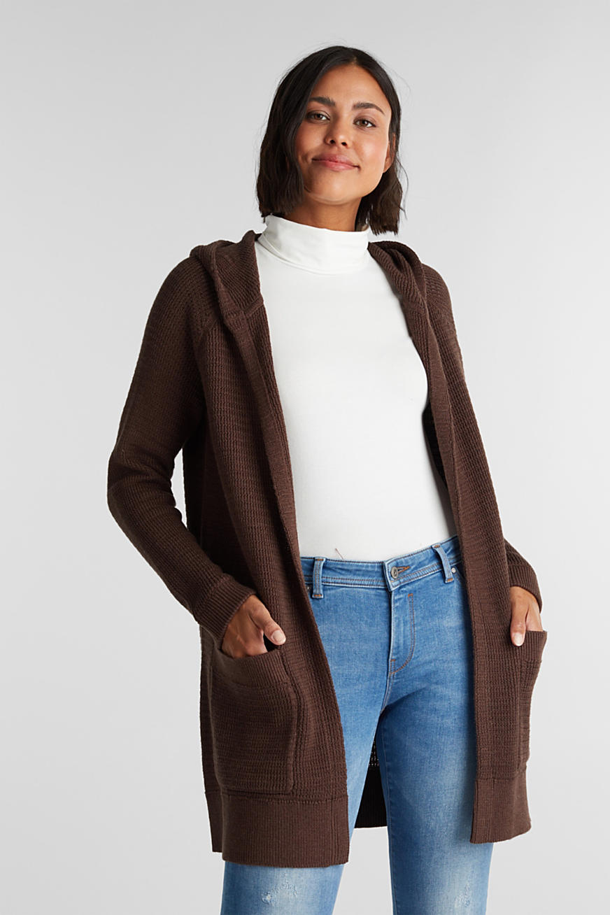Long-Cardigan aus 100% Organic Cotton